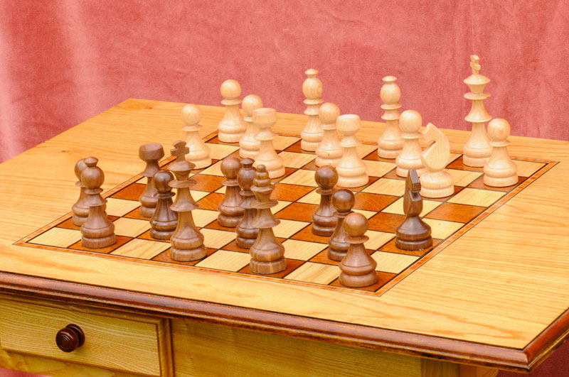 Chess Table with Drawer