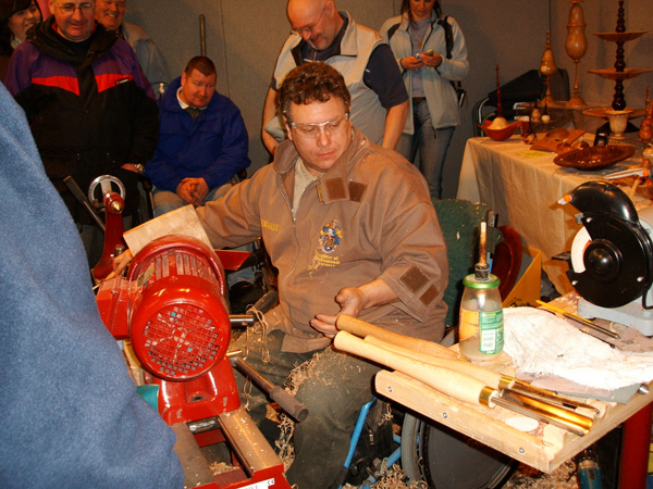 wood turner and his tools